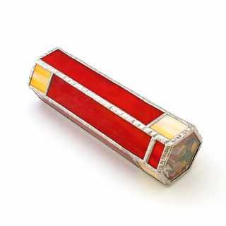 Krasohled skleněný střípkový červeno-oranžový